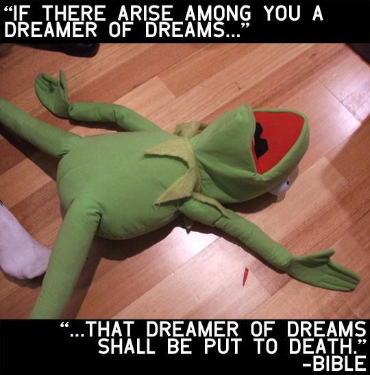 kermit the frog the blasphemer